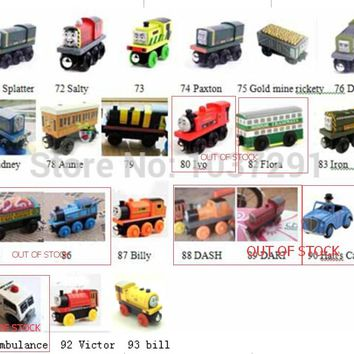 One Piece Thomas and His Friends Magnetic Wooden Trains Model Kids Christmas Toys Gifts for Children Friends Salty Bill Victor
