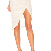 ale by alessandra x REVOLVE Ainoa Skirt in Gold Lurex