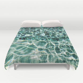 Swimmingly Duvet Cover by Yuval Ozery