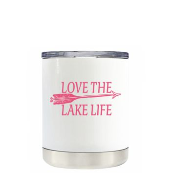Live the Lake Life on White 10 oz Lowball Tumbler