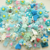 10 pcs Assorted Blue Cabochon Set No.23 by misssapporo on Etsy