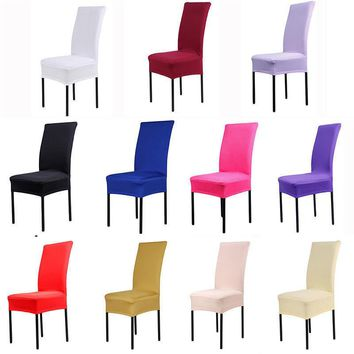 Dining Chair Covers Spandex Strech Dining Room cadeira Protector Slipcover Decor housse de chaise for sillas bone silla gorras