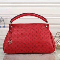 LV 2019 new retro embossed letters women's handbag Messenger bag #2