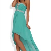 Dress with Sweetheart Bodice with Stones