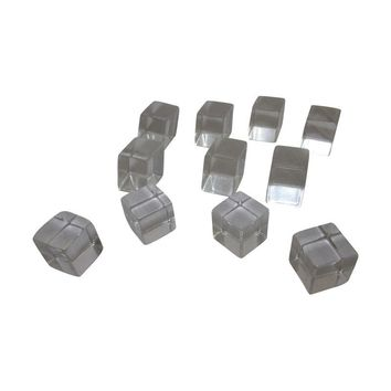 Pre-owned Lucite Clear Cube Drawer Pulls - Set of 11