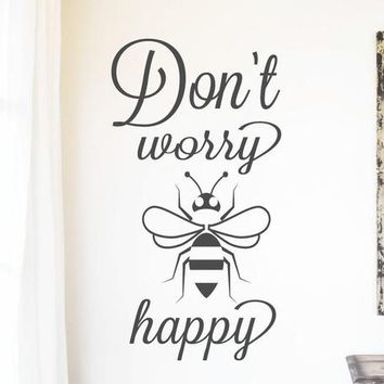SVG DXF Dont Worry Bee Be Happy Quote Cut File Cutting File Commercial Use Instant Download Silhouette Studio Cameo Cricut Farmhouse