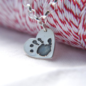 heart shaped handprint/ footprint charm bracelet