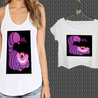 Disney Alice Wonderland Cheshire Cat For Woman Tank Top , Man Tank Top / Crop Shirt, Sexy Shirt,Cropped Shirt,Crop Tshirt Women,Crop Shirt Women S, M, L, XL, 2XL **