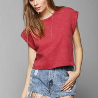 Project Social T Roll-Sleeve Cropped Tee - Urban Outfitters
