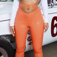 New tight height flexibility feeling wearing leather pants for women