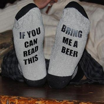 If You Read This Bring Me A Glass Of Beer - Drinking - Women's Socks