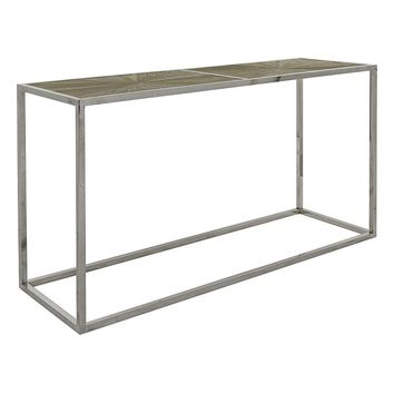 Safavieh Couture Abbot Parquet Console Table (Grey)
