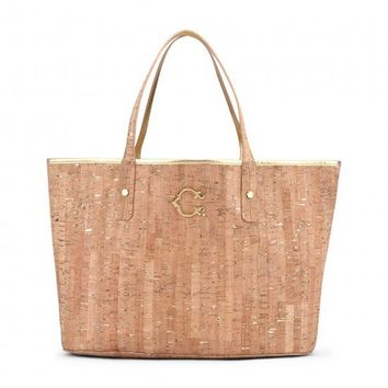 C. Wonder | Metallic Flecked Cork Tote