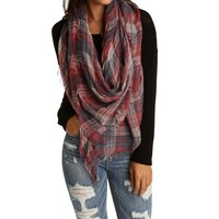 Sale-red Go-anywhere Plaid Scarf