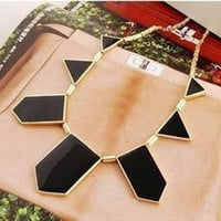 Black Shape Choker Necklace