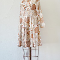 vintage 1960s brown floral tent dress [Portobello Road Dress] - $68.00 : ADORED | VINTAGE, Vintage Clothing Online Store