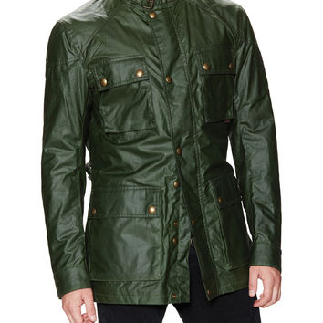 Belstaff Men's Roadmaster Signature Waxed Jacket - Green -