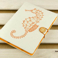 "Design Tablet cover - Seahorse ( Cotton yarn / Hardcover / 4 colors / Nexus 7 / Samsung Tab 7.0 / Kindle 6 "" / Kindle Fire 7 "" / Ipad mini )"