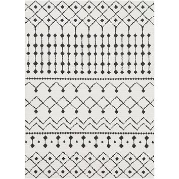 Surya Moroccan Shag Global Black MCS-2309 Area Rug
