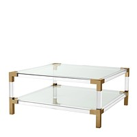 Lucite Brass Coffee Table | Eichholtz Royalton
