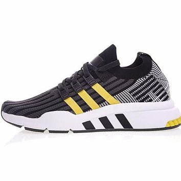 "adidas Originals EQT Support ADV Mid Retro Running Shoes ""Black&Yellow"" CQ2996"