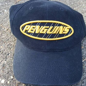 Vtg Ann Co. Pittsburgh Penguins snapback  dad hat cap NHL Championship Lemieux Crosby