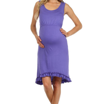 Maddie High-Low Nursing Dress