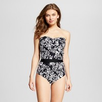 Women's Floral Halter One Piece Swimsuit - Sea Angel