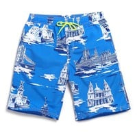 Summer Printed Short Hombre Loose Quick Dry Beach Clothes Men