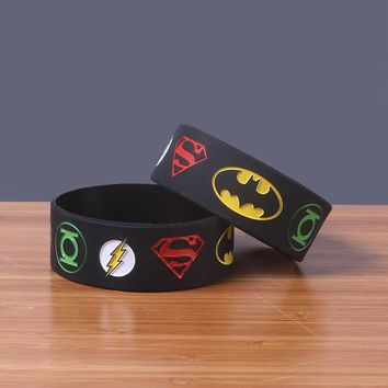 Batman Dark Knight gift Christmas Wide Version Batman v Superman Silicone Bracelets High Quality Silicon Bileklik Hot Movie Wristband Trendy Jerwerly Popular Band AT_71_6