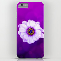 HIGH QUALITY iPhone CASE - iPhone 6 - iPhone6 Plus - iPhone 5 -Slim and Tough options available - Purple Daisy Floral Phone Protection Case