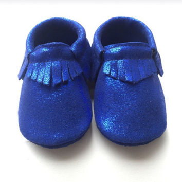 Night Fall- Holiday Baby Moccasins