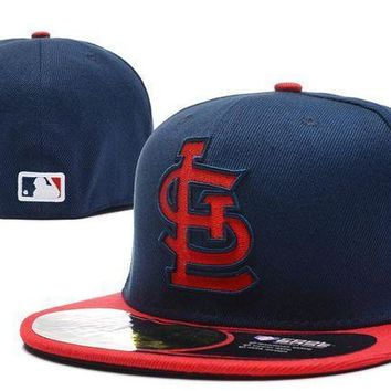 St. Louis Cardinals New Era Mlb Authentic Collection 59fifty Hat Blue Red