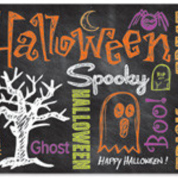 Halloween Chalkboard Blank Note Card