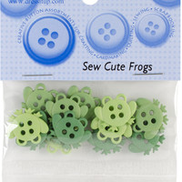 Dress It Up Embellishments-Sew Cute Frogs