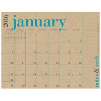 2015-2016 Paper Source Great Big Calendar
