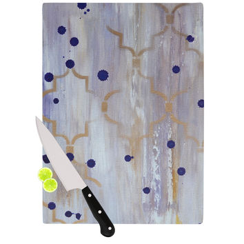 "Kira Crees ""Lush"" Gray Blue Cutting Board"