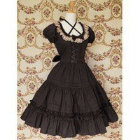 Cotton Black Lace Classic Lolita Dress - Classic Lolita Dresses - Lolita Dresses