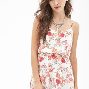 Floral Print Chiffon Dress - Dresses - 2000102093 - Forever 21 EU