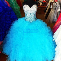 New Beading Quinceanera Dresses Formal Prom Party Ball Gown Custom Size 2-30++++