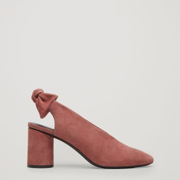 Slingback bow pumps - Terracotta - Shoes - COS US