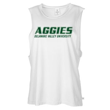NCAA Delaware State Aggies 17DK01 Women's Muscle Tee Shirt