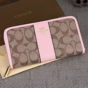CREYUX5 COACH Women Fashion Wallet Purse Clutch Bag Leather Tote Handbag