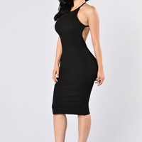 Turn Around Dress - Black | Fashion Nova