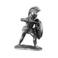 Miniature Toy Soldier Hoplite Warrior of Ancient Greece 1/32 Scale Top Quality Tin  Handmade 54mm Tin Metal Action Statuette Figure