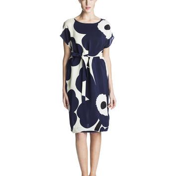 JOLI MARIMEKKO DRESS STONE/DARK BLUE