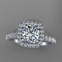 14k white gold diamond engagement,wedding ring with lannyte center. style 84WDLYE