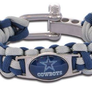 NFL - Dallas Cowboys Custom Paracord Bracelet
