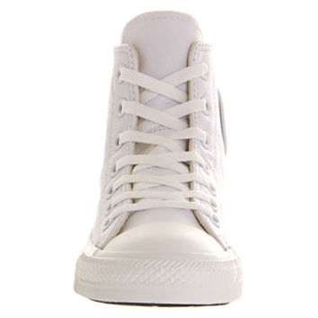 Converse All Star Hi Leather White Mono - Unisex Sports