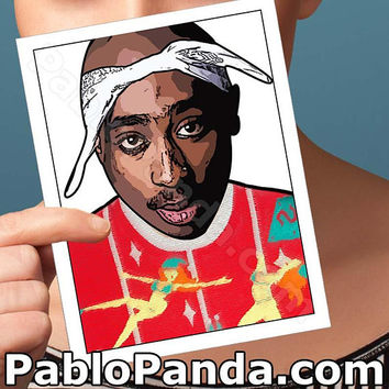 Christmas Cards | Tupac Shakur | Hip Hop 2Pac Modern Christmas Husband Christmas Girlfriend Card Boyfriend Card Boyfriend Gift Card For Mom